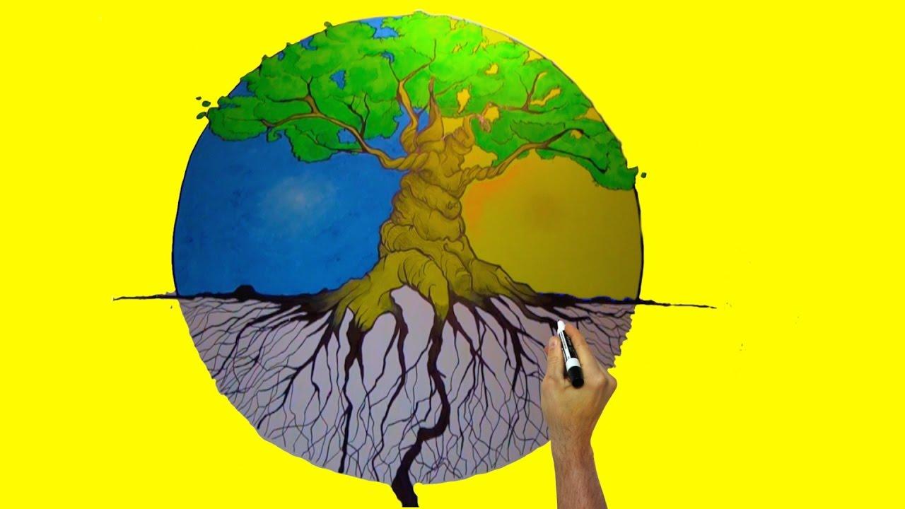 Arbol De La Vida Dibujo Mural Youtube