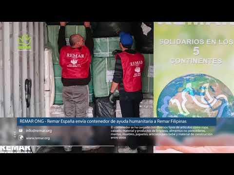 REMAR ONG - Remar España envía contenedor de ayuda humanitaria a Remar Filipinas
