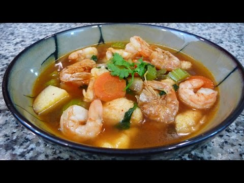 Mexican Shrimp Soup Recipe & easy delicious family recipe