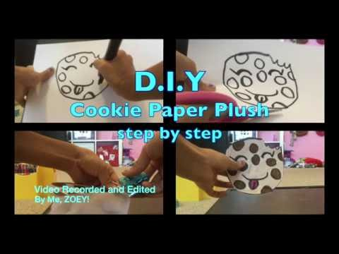 "Paper Plushies D.I.Y! Cookie Yum Paper ""Plush"""