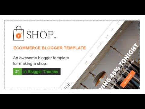 R-shop - Ecommerce Responsive Blogger Template.   Themeforest ...