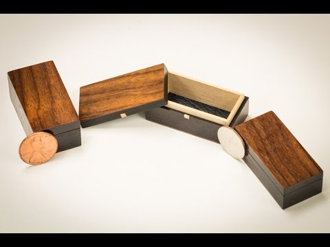 Building Miniature Ebony and Rosewood Boxes