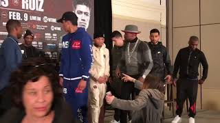 WOW Gervonta Tank Davis Face Off With Giant! Hugo Ruiz