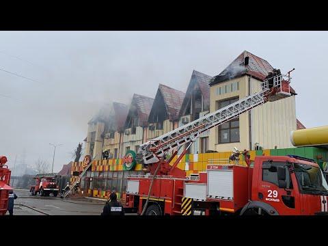 Видео: Під Києвом спалахнув готель