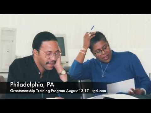 writing-grant-proposals-training:-grantsmanship-training-program:-philadelphia-pa.-aug.-13-17