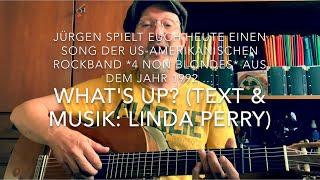 What's Up? ( Text & Musik: Linda Perry ) hier interpretiert, gespielt und gesungen von Jürgen Fastje