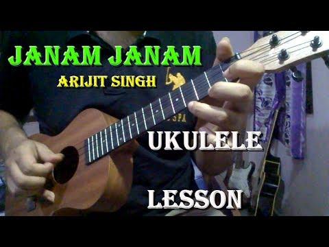 Janam Janam - Arijit Singh | Ukulele Lesson In Hindi | Dilwale | SRK