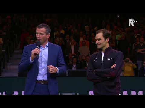 De speech van Roger Federer na zijn winst tegen Robin Haase