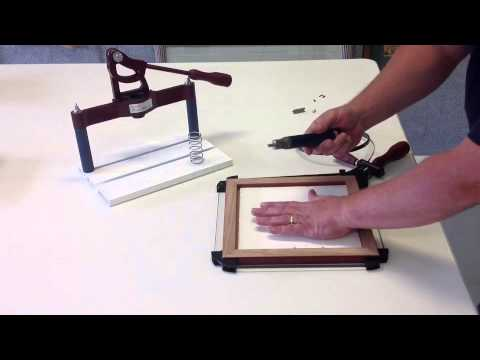 Picture Frame Joining Pushmaster Youtube