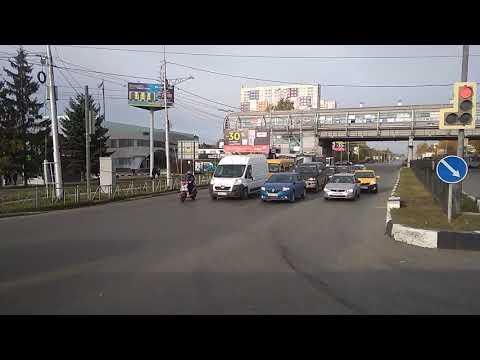 Отправление с автовокзала г. Рязани на автобусе 251 Рязань - Красногвардейская