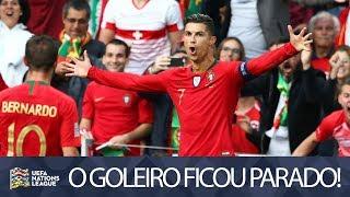 CRISTIANO RONALDO FAZ BELO GOL DE FALTA NA NATIONS LEAGUE - PORTUGAL X SUÍÇA