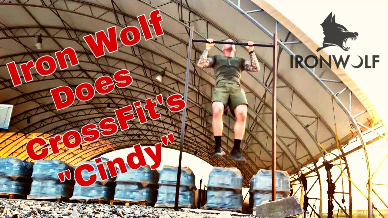 "Iron Wolf does CrossFit's ""Cindy"" (125 pull-ups, 250 pushups , 375 squats in 20 min)"