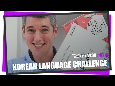 Korean Language Challenge 2017 / 2018 - Finally learning Korean  (Mika in Korea Vlog #023)