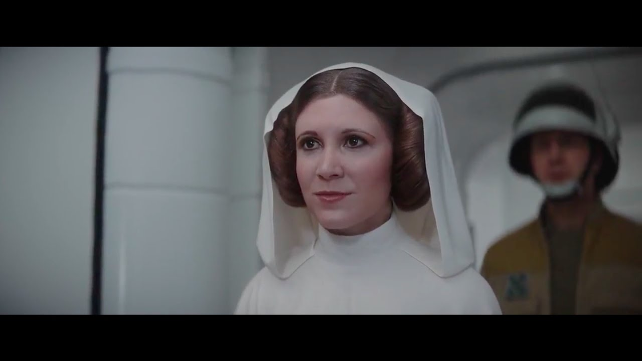 Leia rogue one Face mapping Ctrl Shift Face hates Star Wars