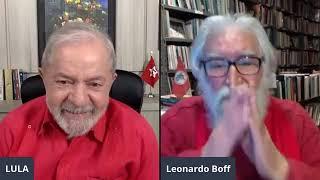 Lula conversa com Leonardo Boff