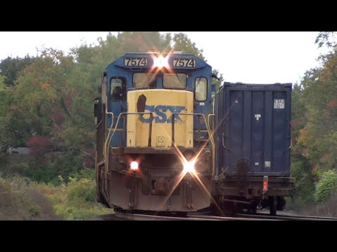 HiDef: Morning Freight Action On CSX's Selkirk Sub, 10-4-15.