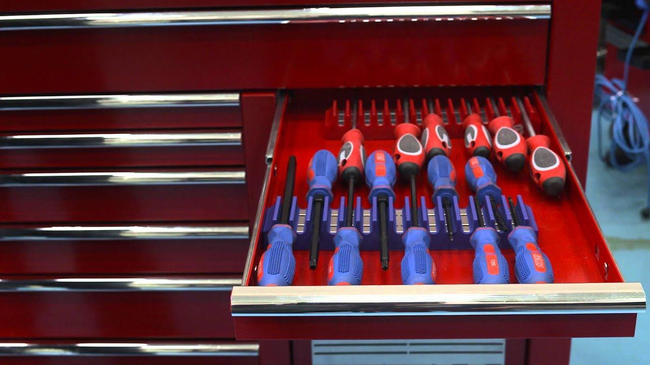 screwdriver holder tools holds profile stealth organiser rack low