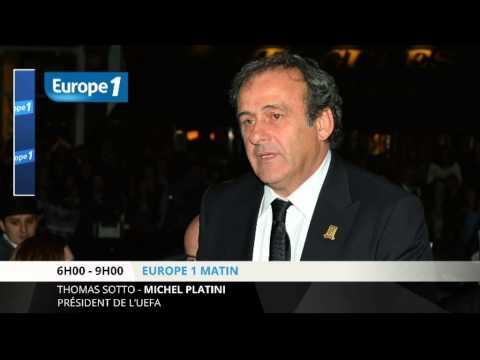 """Michel Platini : """"ce serait bien que Sepp Blatter arrête"""""""