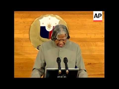 Indian President Abdul Kalam gives speech to Congress