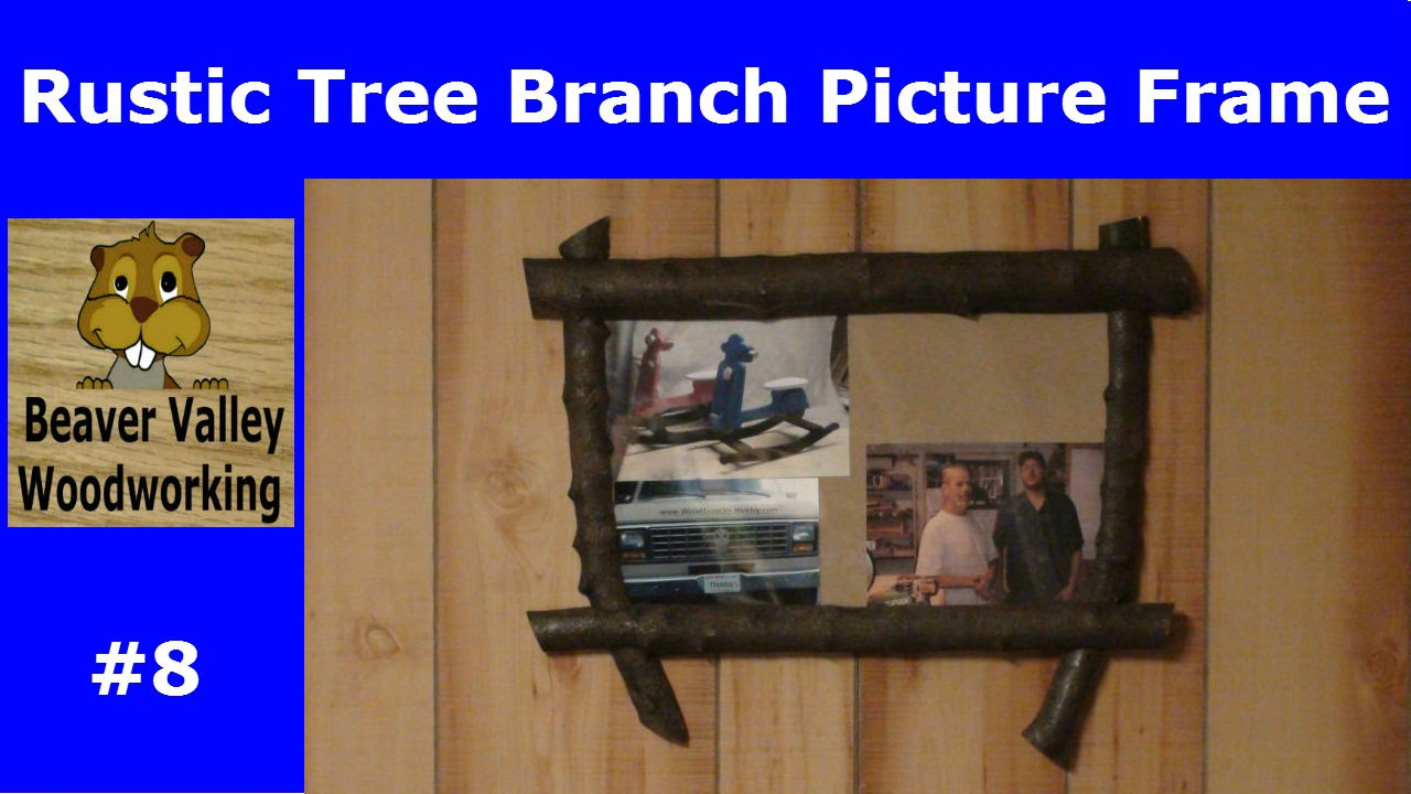 Rustic tree branch picture frame 8 youtube jeuxipadfo Choice Image
