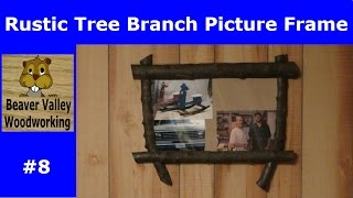 Rustic Tree Branch Picture Frame #8