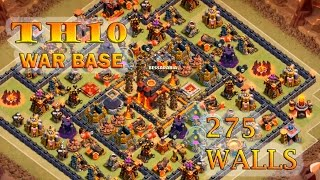 CLASH OF CLANS | TOWN HALL 10 (TH10) | 275 WALLS | BEST CLAN WAR BASE | AFTER HALLOWEEN UPDATE