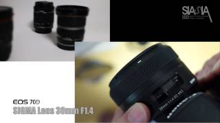 Canon 70D Live View   SIGMA 30mm Lens TEST