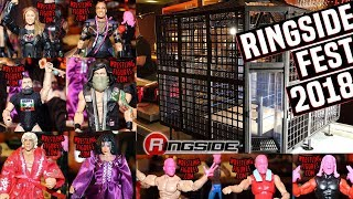 NEW WWE ACTION FIGURES SHOWN AT RINGSIDE FEST 2018 - ELITE 65 + ELIMINATION CHAMBER PLAYSET & MORE!!