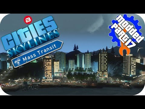 Cities Skylines Gameplay: WATERFRONT TOURISM ISLAND! Cities: Skylines Mods MASS TRANSIT DLC Part 17