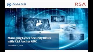 Managing Cyber Security Risks  - Aujas with RSA Archer