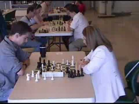 Susan Polgar playing blitz chess in Salt Lake City