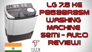 LG P8539R3SM Semi-automatic Washing Machine (7.5 Kg, Dark Grey)