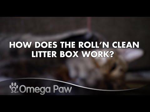 Omega Paw FAQ: How Does The Roll'N Clean Litter Box Work?