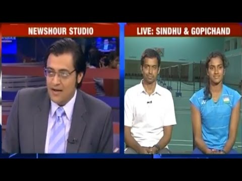 Arnab Goswami Speaks Exclusively to PV Sindhu & P Gopichand