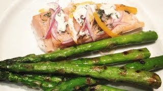 Healthy Baked Salmon With Goat Cheese