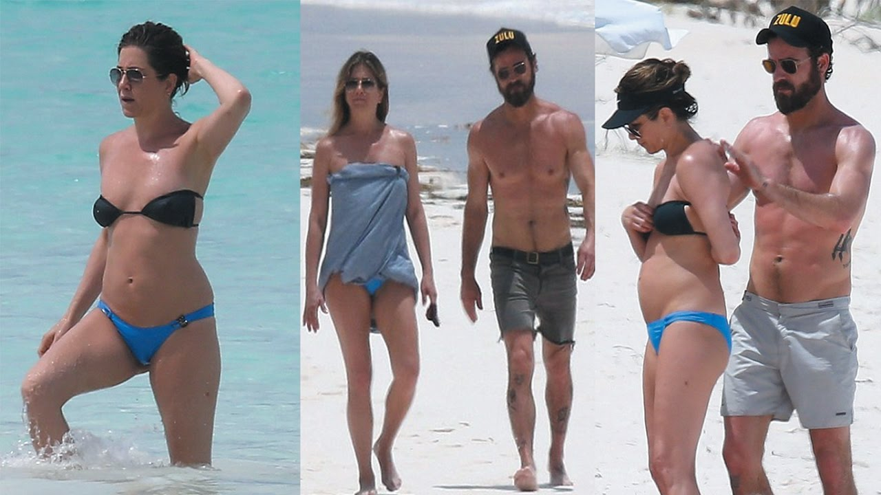 Jennifer Aniston Slips Into Bikini On Bahamas Beach