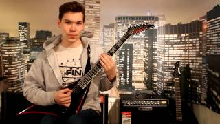 Tears Dont Fall (Part 2) - Bullet For My Valentine guitar cover WITH SOLO FULL HD