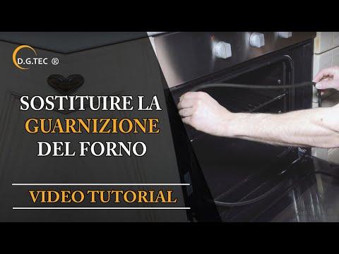 Come sostituire la guarnizione del forno Rex Electrolux Aeg - YouTube