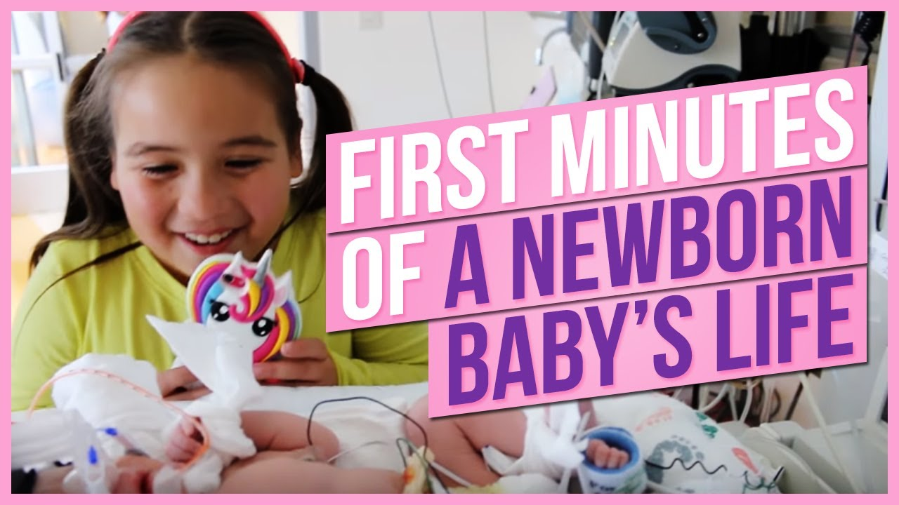 first minutes of a newborn baby s life youtube