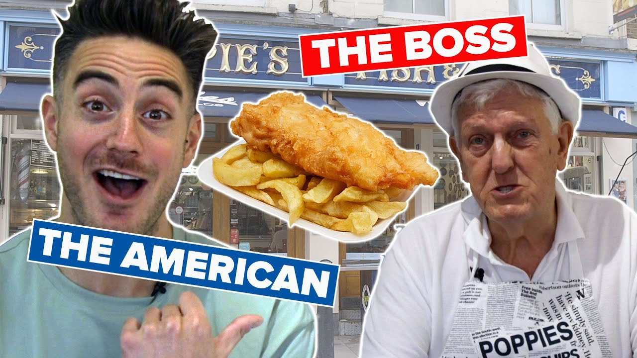 An American Tries Working In A British Fish & Chip Shop
