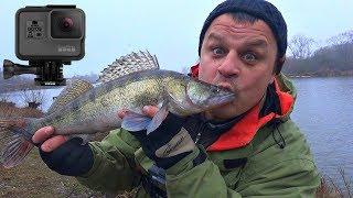 Риболовля на судака від Михалича! Тестую екшн камеру GoPro Hero 5 Black! Зимовий спінінг