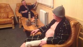 Мужики в бане, часть 2 - соревнования.