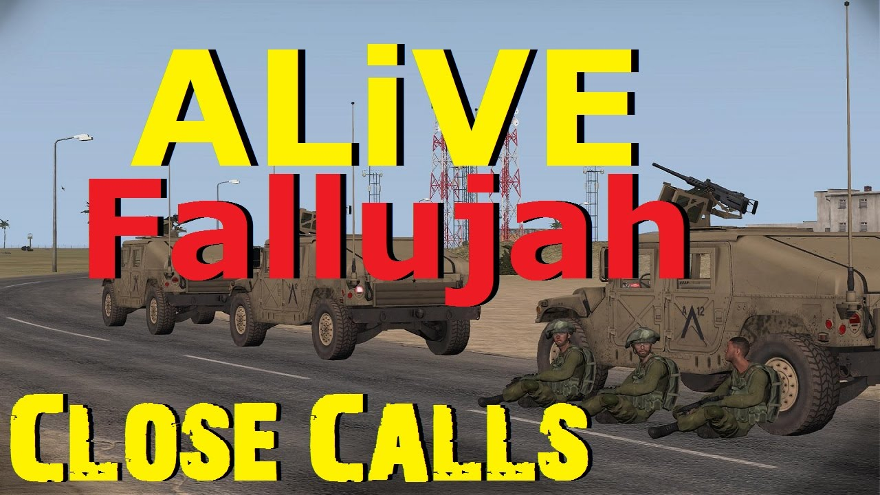 ARMA 3 ALiVE (TrackIR) - Fallujah - Close Calls - YouTube