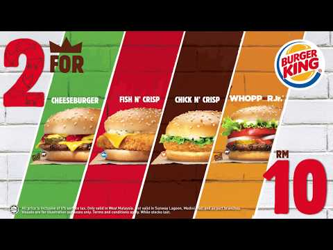 Burger King 2 FOR 10