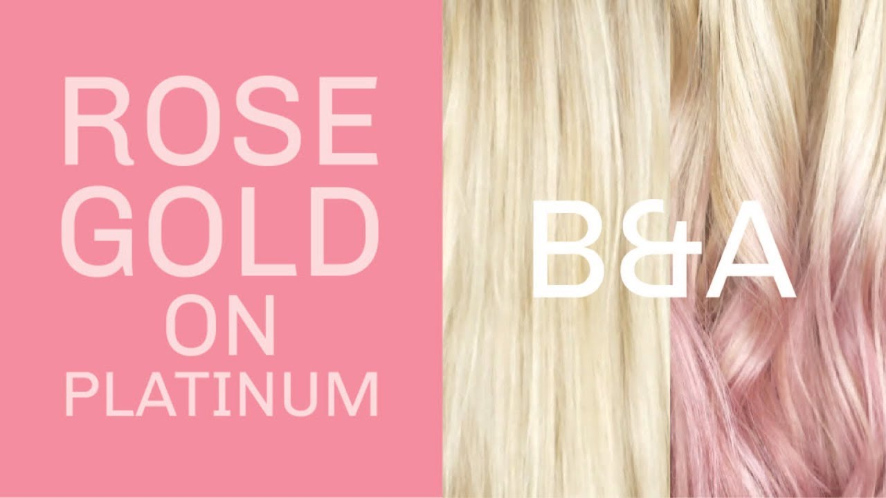 Overtone Rose Gold On Platinum Blonde Hair Youtube