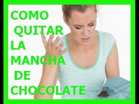 C mo quitar manchas de chocolate de la ropa youtube - Como quitar la carcoma ...