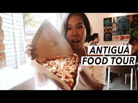 Caribbean Food Tour, Big Banana Pizza + St John's | Antigua Travel Vlog (2/2)