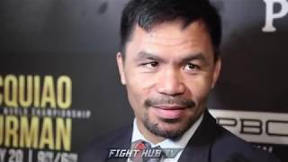 "MANNY PACQUIAO SAYS KEITH THURMAN A ""EASY FIGHT"" IF HE FIGHTS LIKE HE DID IN JOSESITO LOPEZ FIGHT"