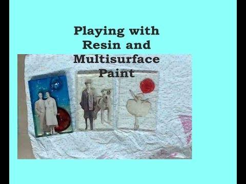 Playing with Resin      #resin #mixedmediaarttutorials #tutorials thumbnail