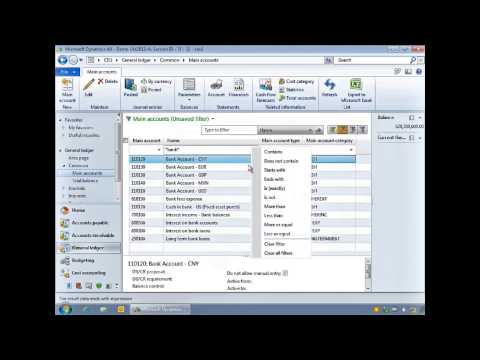 Microsoft Dynamics AX - Filters and Inquiries in Dynamics AX Tutorial